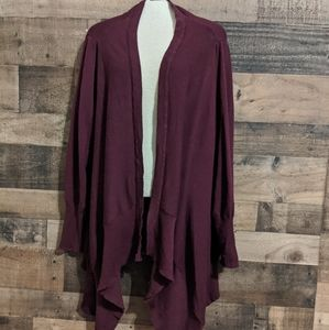 Woman's Maurices long draping cardigan